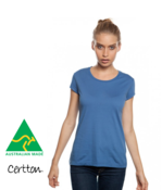 Women's Organic Fashion Fitted Tee Australian Made