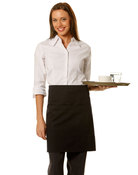 Short Waist Apron - 100% cotton canvas