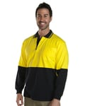 JB's Hi Vis L/S Cotton Polo