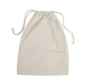 Calico Drawstring Tote Bag 100mm by 200mm - 250 units min qty