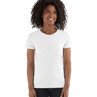 Gildan Missy Fit White Womens T Shirt SPECIAL Thumbnail