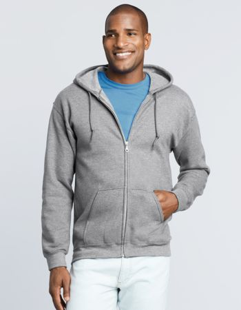 Gildan Mens Zip Hooded Sweatshirt Thumbnail