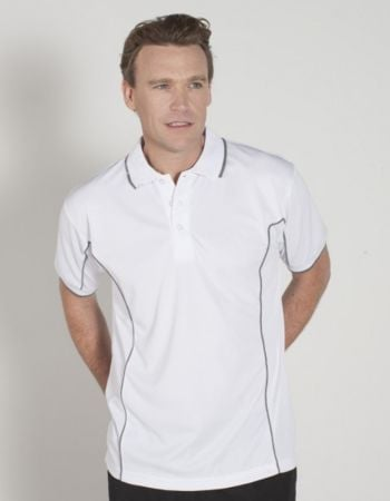 Mens S/S Piping Polo Thumbnail