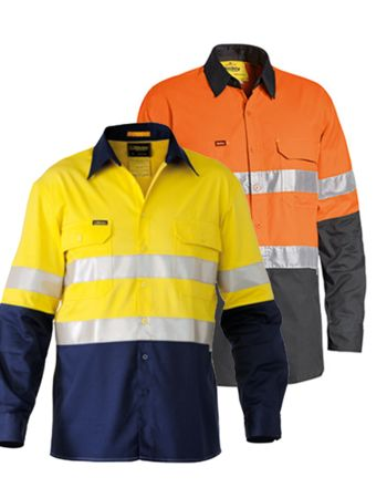 Womens Bisley 3M Taped Hi Vis Shirt Thumbnail