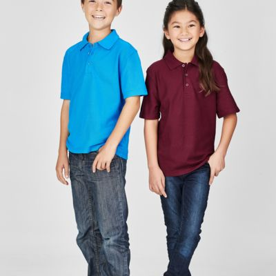 Kids Biz Collection Pique Knit Polo Thumbnail