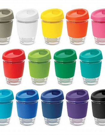 Reusable Glass Coffee Cup 340ml Thumbnail