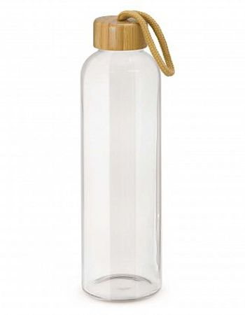 Bamboo Lid Glass Water Bottle 600ml Thumbnail