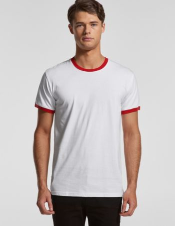 Mens AS Colour Ringer Tee 5053 Thumbnail