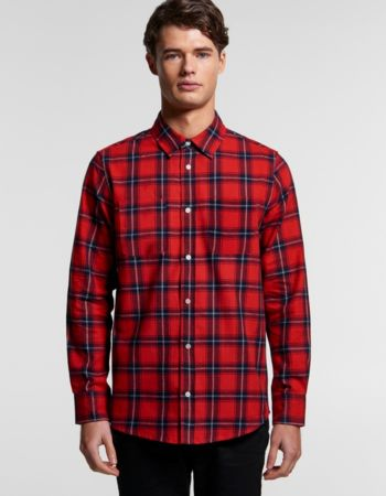 AS Colour Mens Plaid Flannel Shirt Thumbnail