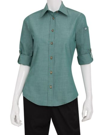 Chefworks Ladies Chambray Shirt Thumbnail
