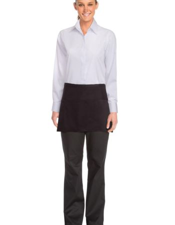 Chefworks Three Pocket Black Apron Thumbnail