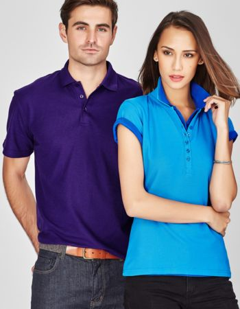 Mens Biz Collection Pique Knit Polo 50+ Thumbnail