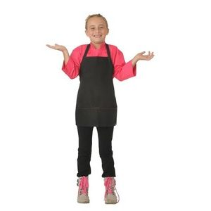 Chefworks Kids Black with Berry Piping Apron Thumbnail