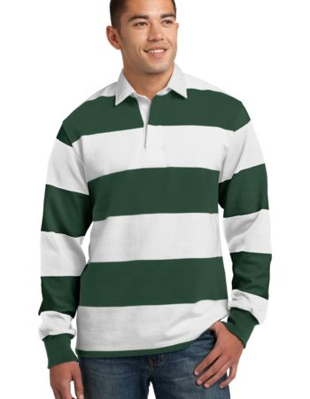 Sport-Tek Classic Long Sleeve Rugby Polo Thumbnail