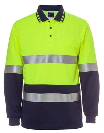 JB's Hi Vis Long Sleeve (D+N) Traffic Traditional Polo Thumbnail
