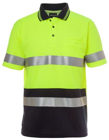 JB's Hi Vis Short Sleeve (D+N) Traffic Traditional Polo Thumbnail