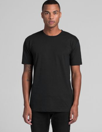 AS Colour Staple Tee Black - Same Day Dispatch Thumbnail