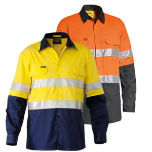 Bisley 3M Taped Hi Vis Mens Shirt Thumbnail