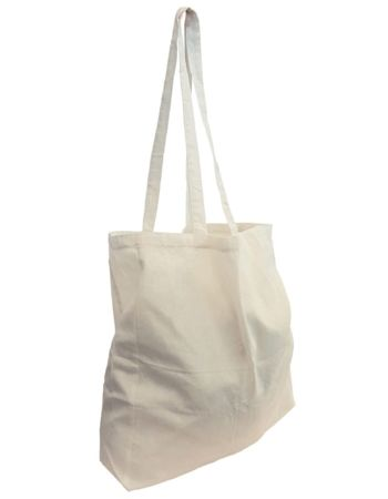 Calico Tote Bag 370mm x 420mm with 800mm Handle & 100mm Gusset Thumbnail