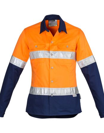 Syzmik Womens Hi Vis Spliced Industrial Shirt - Hoop Taped Thumbnail