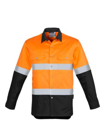 Syzmik Men's Hi Vis Spliced Industrial Shirt - Hoop Taped Thumbnail