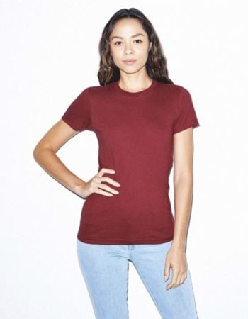 American Apparel Women's Fine Jersey Short Sleeve T-Shirt Thumbnail