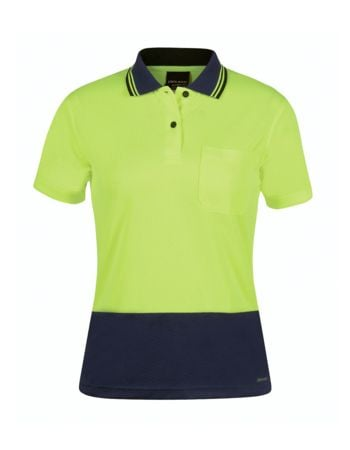 Hi Vis Ladies Jacquard Cooldry Polo Thumbnail