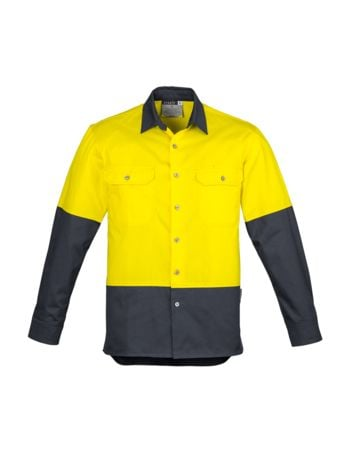 Syzmik Men's Hi Vis Spliced Industrial Shirt Thumbnail