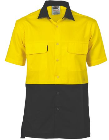 DNC Workwear HiVis 3 Way Cool-Breeze Cotton S/S Shirt 3937 Thumbnail