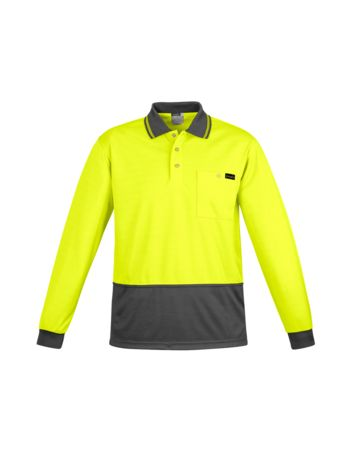 Syzmik Workwear Mens Comfort Back L/S Polo ZH410 Thumbnail
