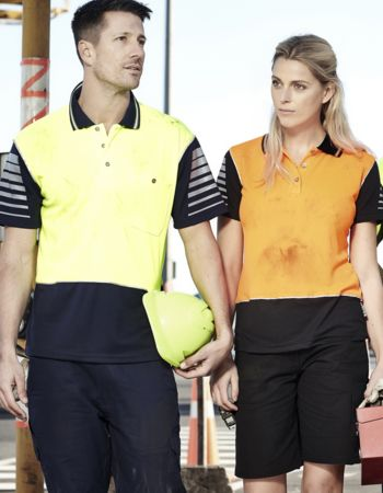 Syzmik Workwear Mens Hi Vis Zone Polo ZH236 Thumbnail