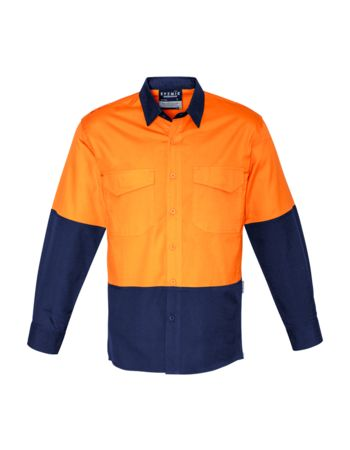 Syzmik Workwear Mens Rugged Cooling Hi Vis Spliced Shirt Thumbnail