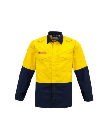 Syzmik Workwear Mens Hi Vis Spliced Shirt - FR RATED / HRC 1 Thumbnail