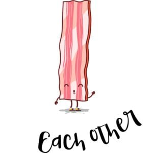 Made for Each Other - Valentine's Bacon T-shirt Thumbnail